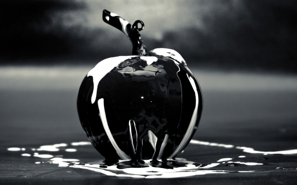 art-cool-creative-apple-3d-black-and-white-black-wallpaper-creativity-still-life-2560x1600