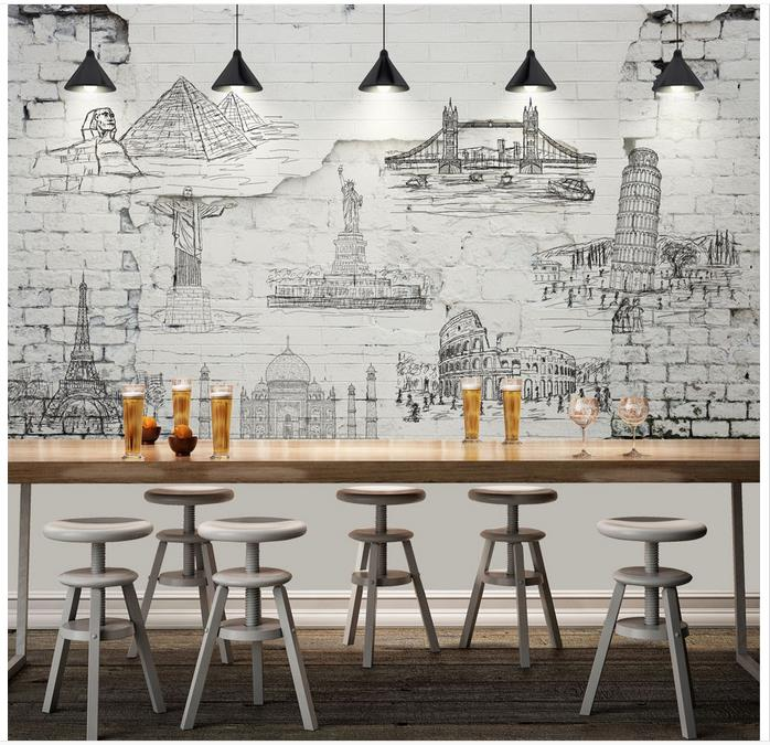 High-Quality-Hot-Sale-New-Custom-3d-photo-wallpaper-murals-Wall-brick-restoring-ancient-ways-chart