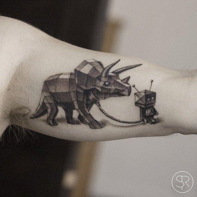 cb5dd9c5b7910e6f2116515309d19e30--rhino-tattoo-robot-tattoo